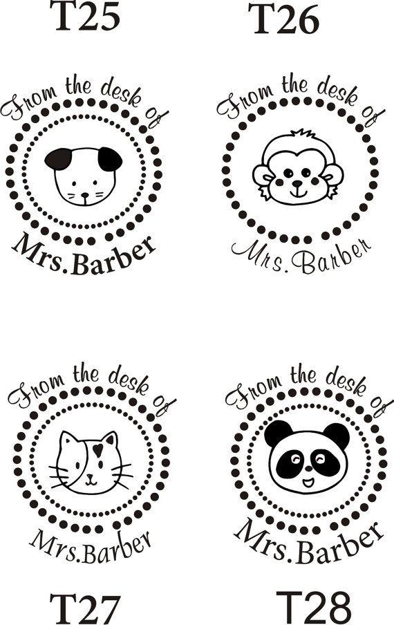 custom stamps for teachers personalized teacher self ink custom made