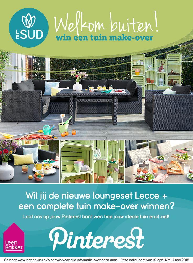 Doe mee met onze Pin & Win actie en win de loungeset Lecce + een tuin make-over! Klinkt goed? Kijk dan op onze website voor de uitleg over de actie: www.leenbakker.nl/nl/pinenwin