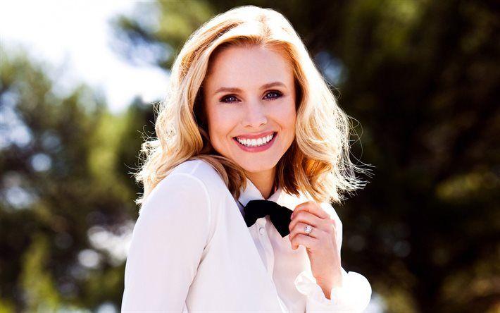 Kristen Bell, Portrait, American actress, smile, white teeth