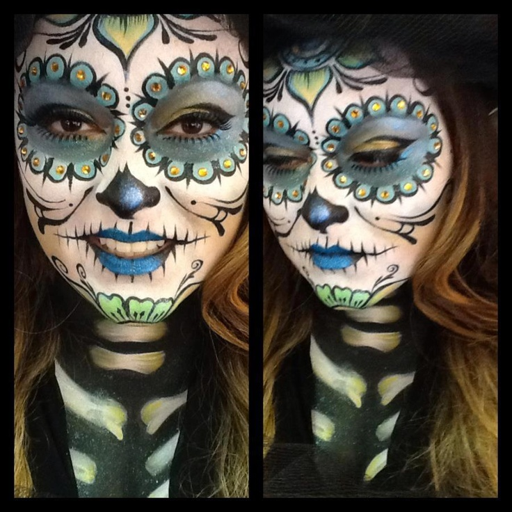 Face paint by Sandra Garibay for Ruby  Makeup Academy.