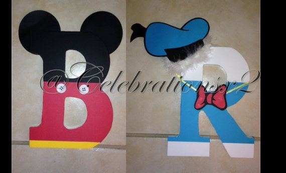 Mickey Mouse Clubhouse Character Name; Wood Letters; Wood Name on Etsy, $15.00