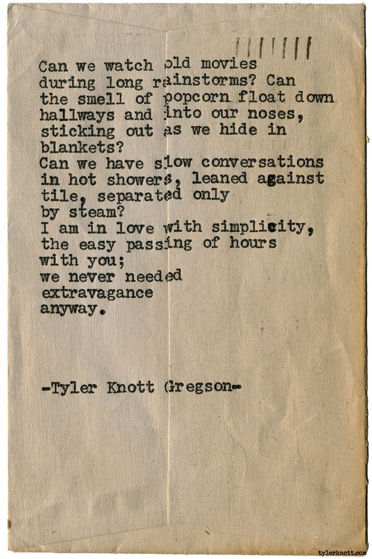 Typewriter Series #1581 by Tyler Knott Gregson Chasers of the Light & All The Words Are Yours are Out Now!