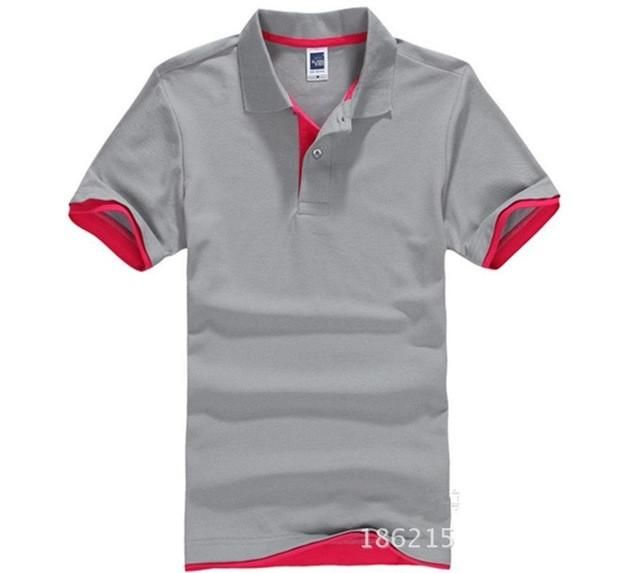 Mens Stylish Basic Simple Casual Solid Color Polo