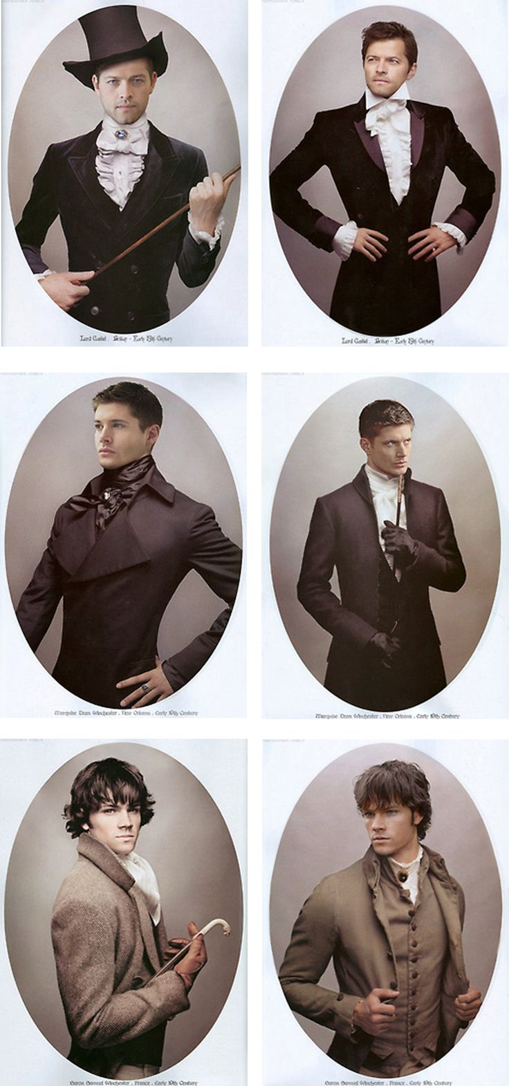 """""""Whoever did this is a mean, mean person... Dean looks too good....."""" Victorian time travel episode. I needs it..."""