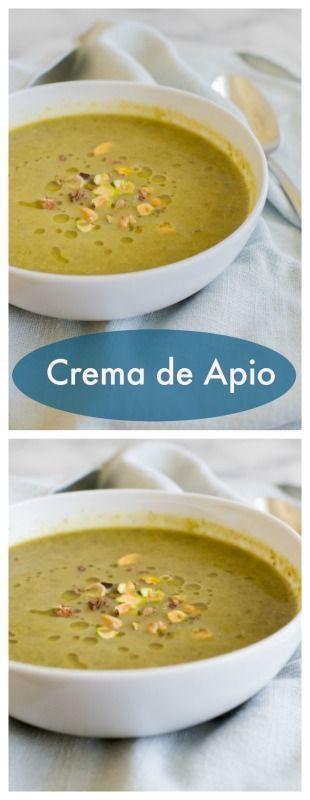 Deliciosa crema de apio. #recetachilena #sopa #apio