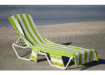 Beach Towel That Covers The Entire Length Of Lounge Chair