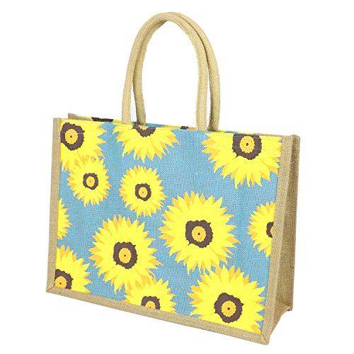 Jute Hessian Large Printed Shopping Bag (Shopping Bag, Su... https:
