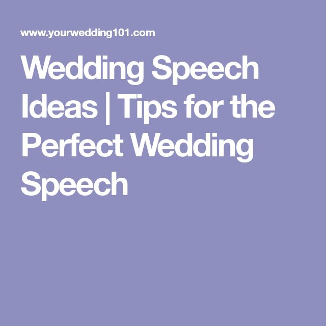 Wedding Speech Ideas | Tips for the Perfect Wedding Speech