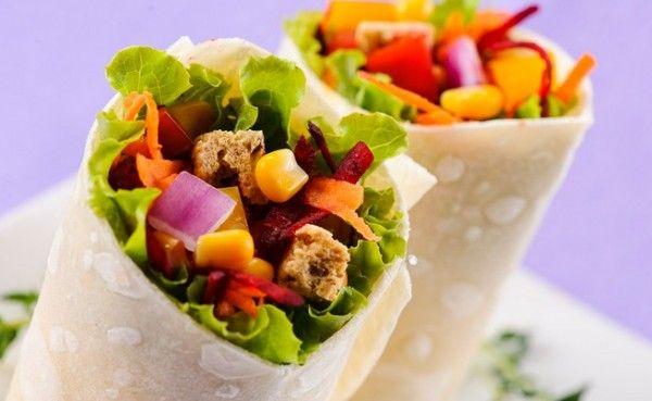 Wrap de queso y vegetales - Confirmado