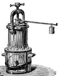 """Fu la pentola a pressione o """"digester"""" l'invenzione che rese celebre Papin nel 1691. Egli aveva anche inventato la valvola di sicurezza per evitare lo scoppio in caso di aumenti incontrollati di pressione. Nella pentola chiusa il vapore fa aumentare la pressione e l'acqua bolle a temperature più alte dei normali 100 gradi centigradi. E' questa la causa della più veloce cottura dei cibi."""