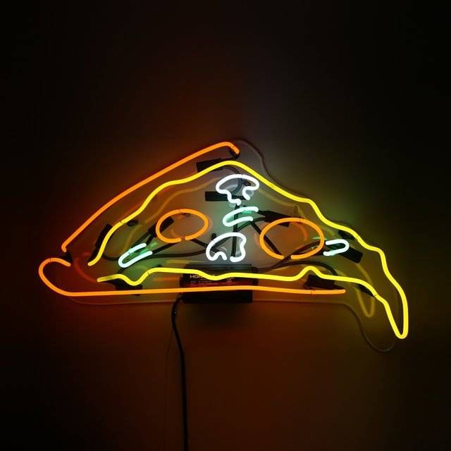 neon cool lights pizza sign wall lighting light signs awesomeness slice creative transform into dripping inspiration designs dude food bears
