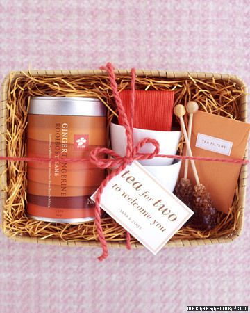 A basket of tea is the ultimate chilly weather welcome gift