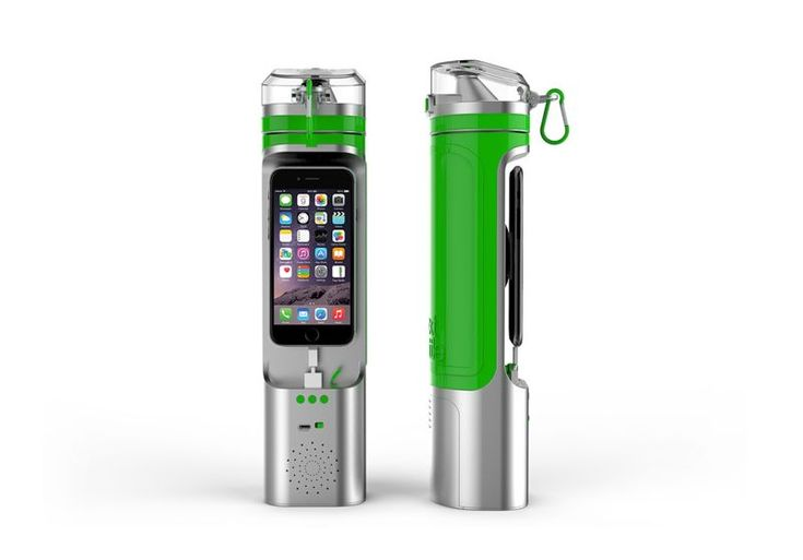 High-tech Water Bottles - The Next Bottle Keeps Your Smartphone as Close as Your Drinking Water (VIDEO)