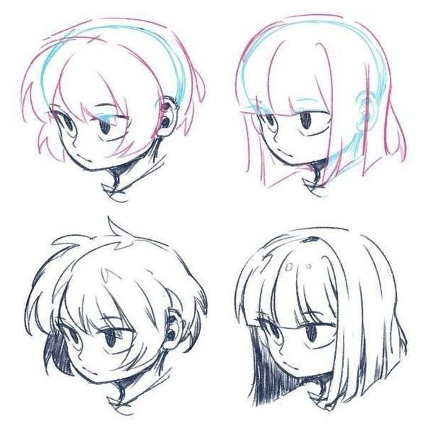 Pin By Rin Rinna On Draw Paint Drawings Art Reference Manga Hair