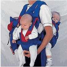Baby Carriers for multiples. Triplets, really? Wouldn't you slip a disk or something?