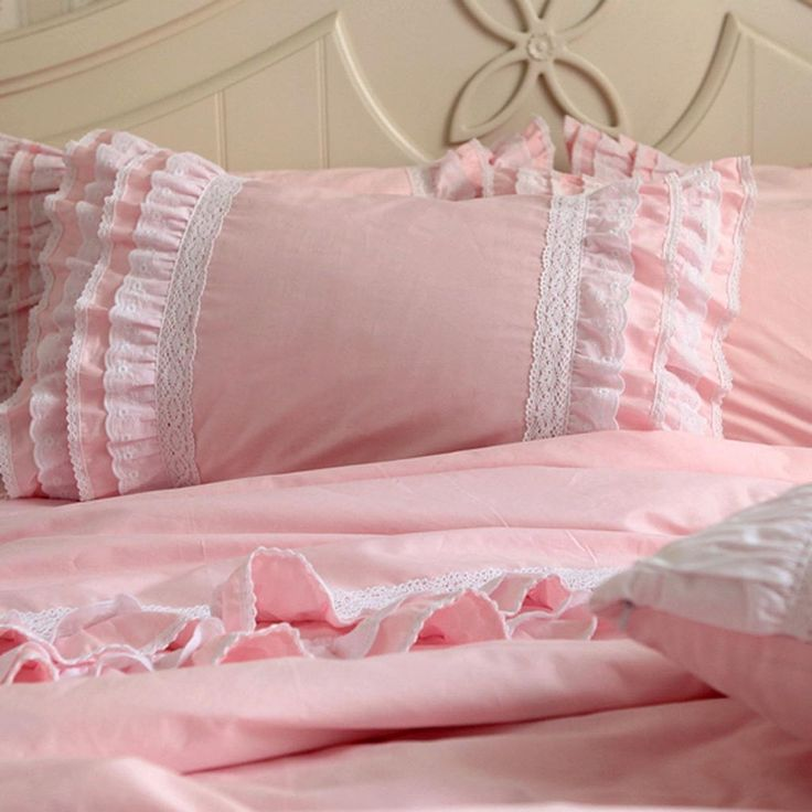 Share this page with others and get 10% off! Pink Ruffle Duvet Cover Set