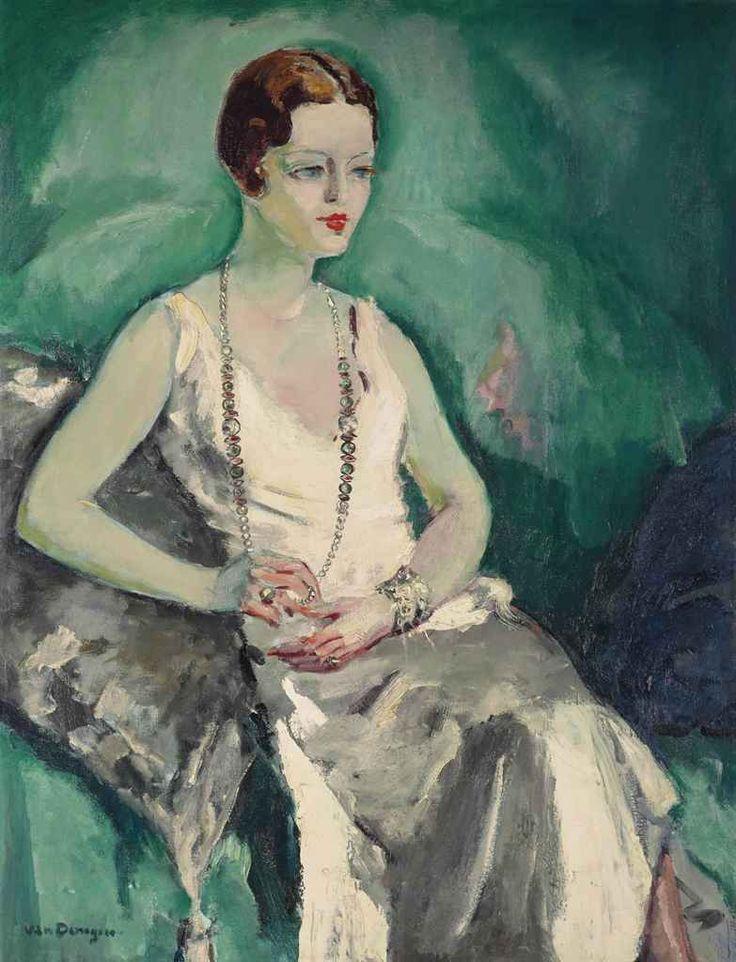 Kees van Dongen (1877-1968) Femme au collier de perles
