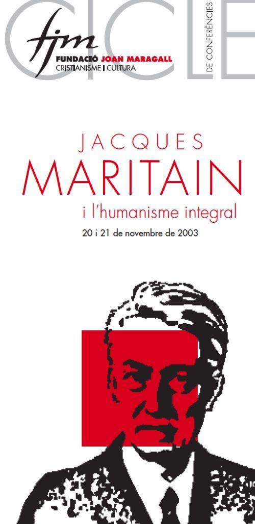 """Fulletó """"Jaques Maritain"""", Fundació Joan Maragall 2003. #design #religion #culture"""