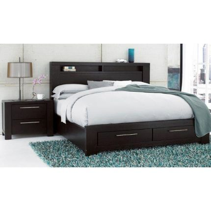 like it but might roll off the bed still beautiful bed king size