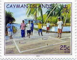 ケイマン諸島のコマの切手