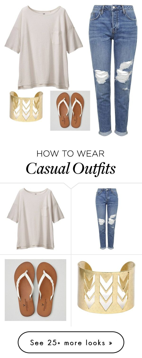 """""""Casual"""" by ksbrandt5380 on Polyvore featuring Uniqlo, Topshop and American Eagle Outfitters"""