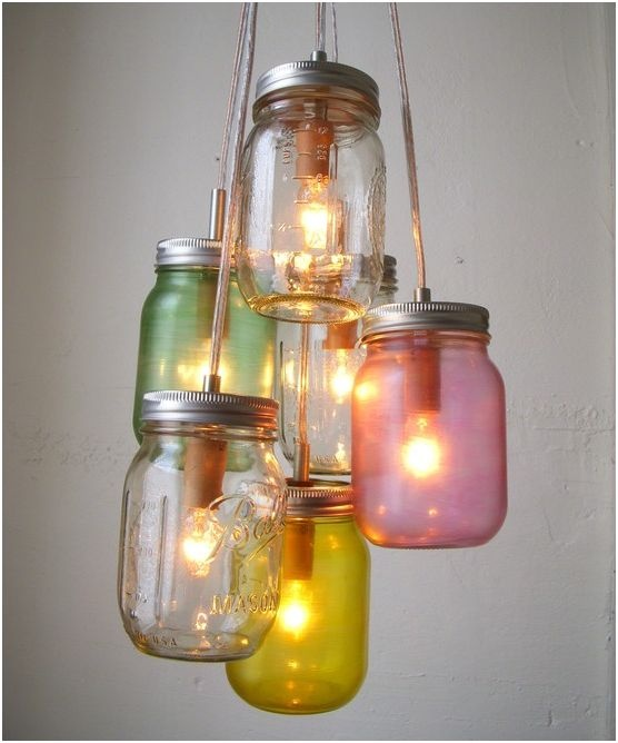 Mason Jar Chandelier. Simply Beautiful.