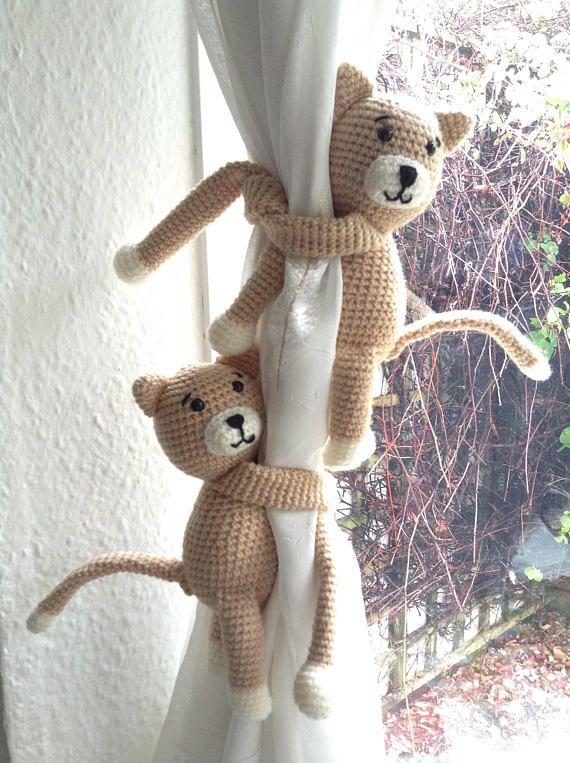 A Pair Of Kitties Curtain Tie Backs Nursery Tie Backs Nursery