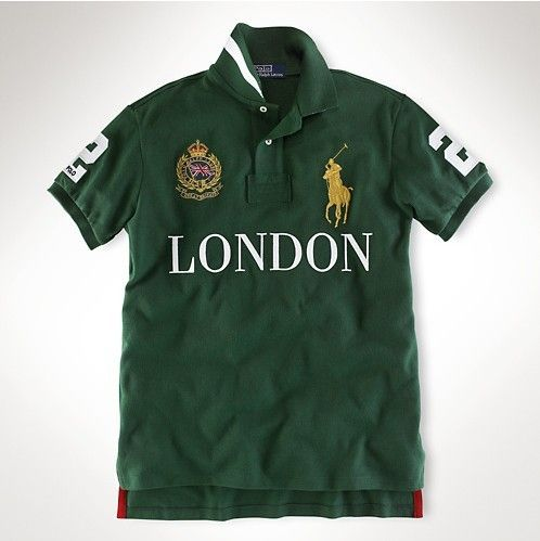 Ralph Lauren Skinny-Fit Short Sleeve Polo London Green