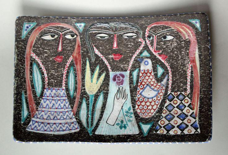 Mari Simmulson. Large Earthenware Bowl, Upsala-Ekeby, Sweden, 1950's, Scandinavian Art Pottery by DecoMode on Etsy https://www.etsy.com/listing/259525116/mari-simmulson-large-earthenware-bowl