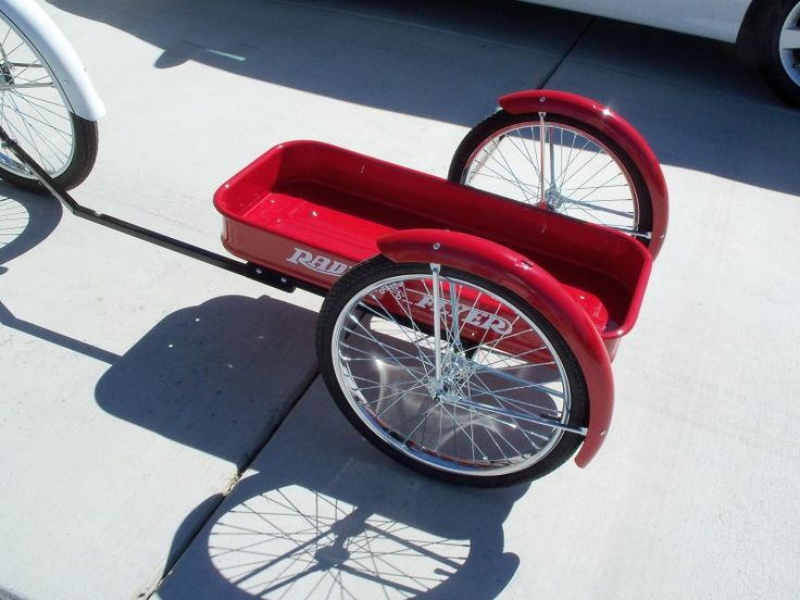 Show Your Bike Trailer And How You Hook It Up To Your Bike Bike Trailer Bike Wagon Rat Rod Bike