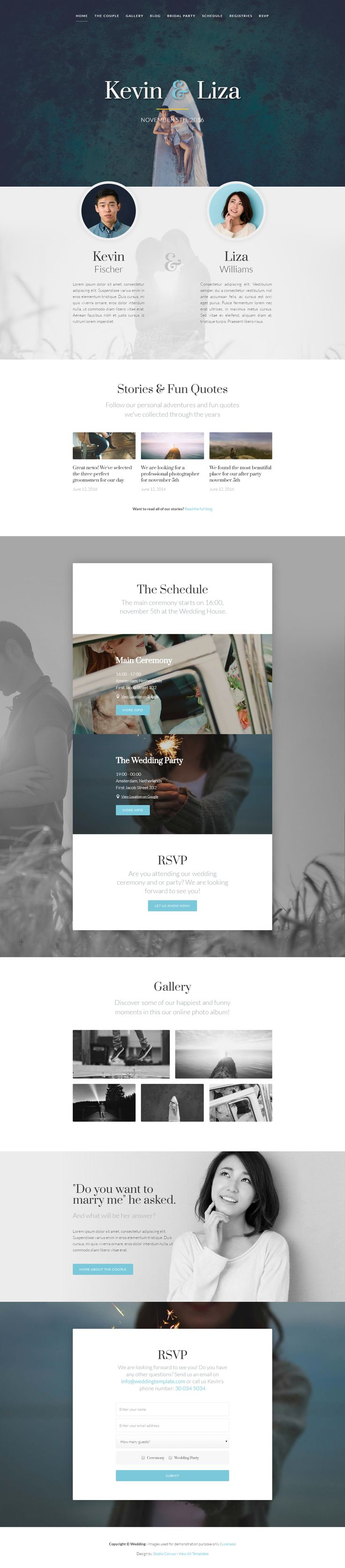 15 Lovely Wedding Website Templates | Best Template