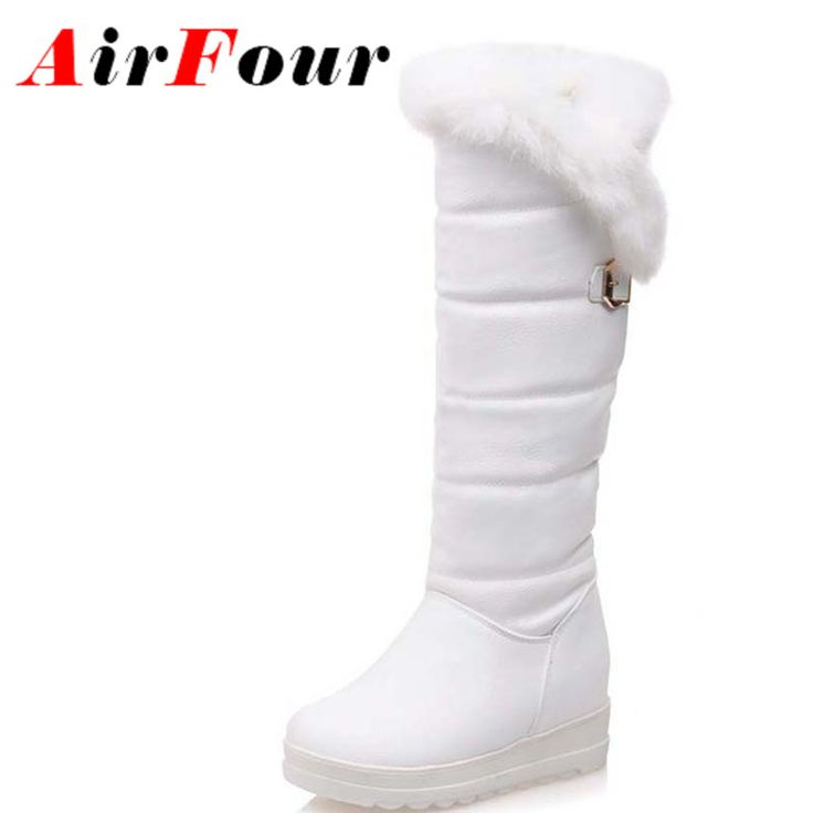 Cheap winter boots cheap, Buy Quality winter white wool coat directly from China boot rain Suppliers:                 Airfour New Winter Boots Warm Women Short Shoes Casual High Heels Ankle Boots Retro Round toe Plat