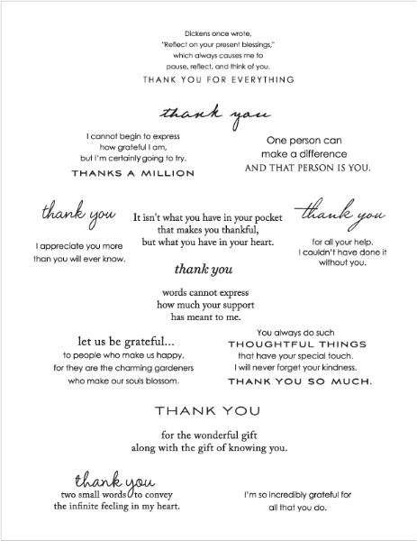 Papertrey Inside & Out: Thank You Stamp Set