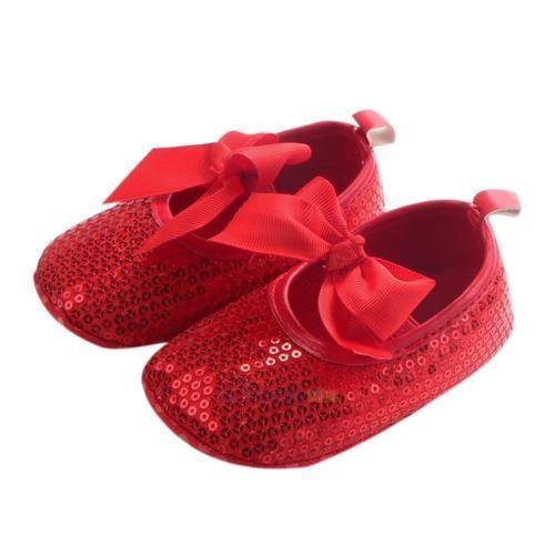 Newborn-Shoes-Girls-Bowknot-Sequin-Soft-Crib-Shoes-Moccasin-Prewalker-Sole-Shoes