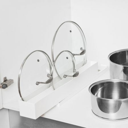 Howards Storage World | Saucepan Lid Maid White..nifty