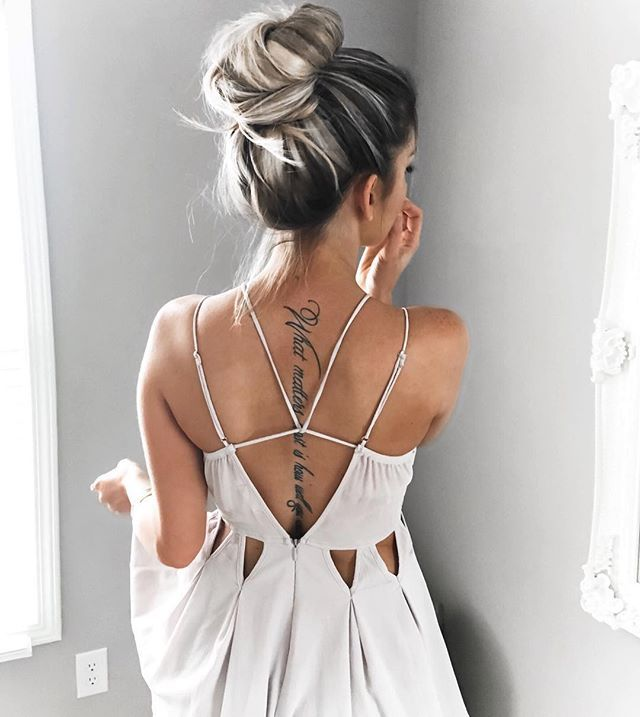 One bun to rule them all.  check out the back deets on this playsuit from @dollygirlfashion #lovedgf