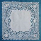 Antique/vintage machine guipure lace edged mat