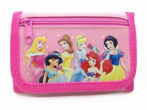 Disney Princesses Light Pink Tri-fold Wallet @ niftywarehouse.com #NiftyWarehouse #Disney #DisneyMovies #Animated #Film #DisneyFilms #DisneyCartoons #Kids #Cartoons