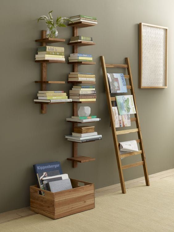 8 Thriving Cool Tricks: Floating Shelves Plants Bookshelves floating shelves next to tv bedrooms.Floating Shelves Decoration Master Bath floating shelves over tv bookshelves.Floating Shelves Kitchen How To Make. Diy Home Decor, Room Decor, Diy Decoration, Decor Ideas, Wall Decorations, Bookshelf Design, Bookshelf Ideas, Ladder Shelves, Shelving Ideas