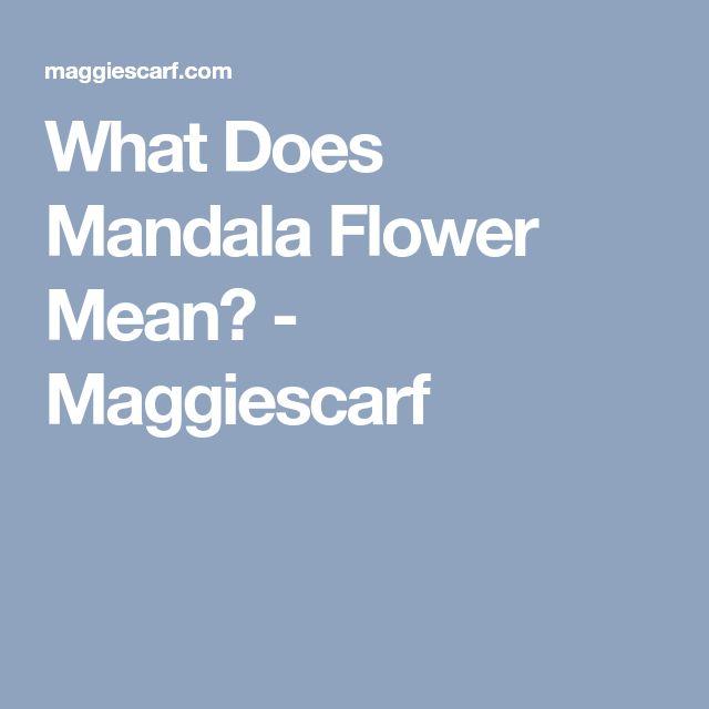 What Does Mandala Flower Mean? - Maggiescarf