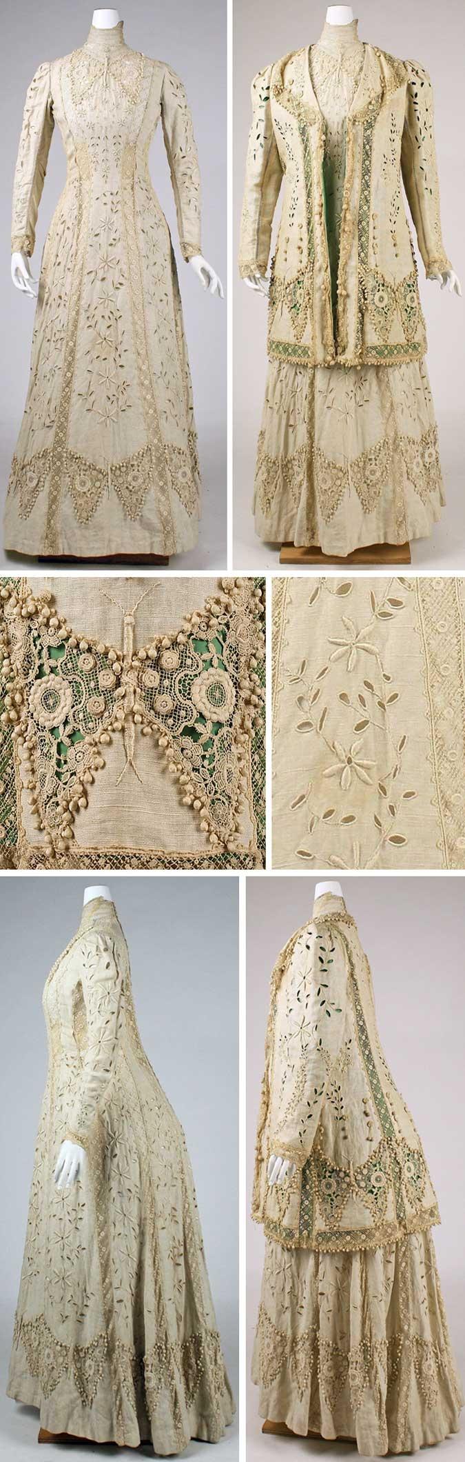 Ensemble, American or European, ca. 1910. Linen and silk. Metropolitan Museum…