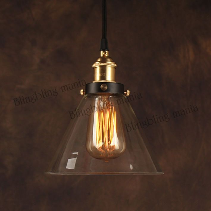 Vintage Retro Industrial Pendant Light Edison Filament Bulb