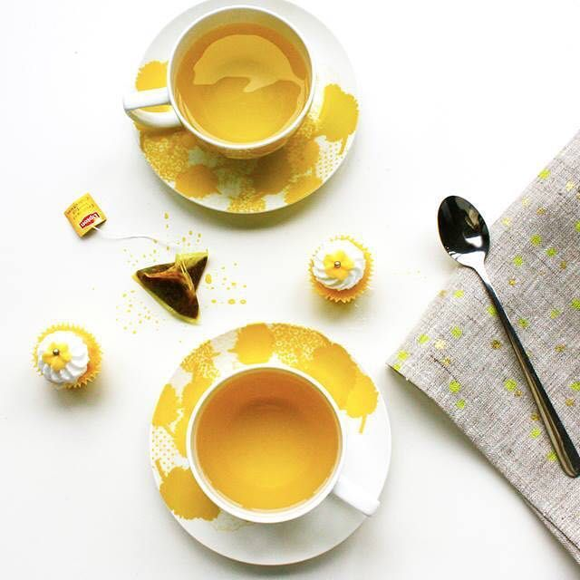 • THE GUIDE HOME •  Who wouldn't want to sip their tea out of this beautiful tea cup and saucer by Ketz Home.