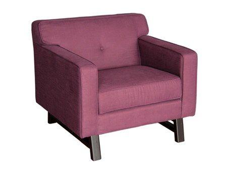 Armen Living Halston Claret Purple Club Chair