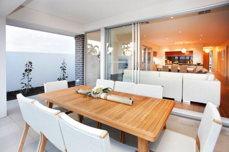 Entertaining is a breeze with this alfresco dining area...