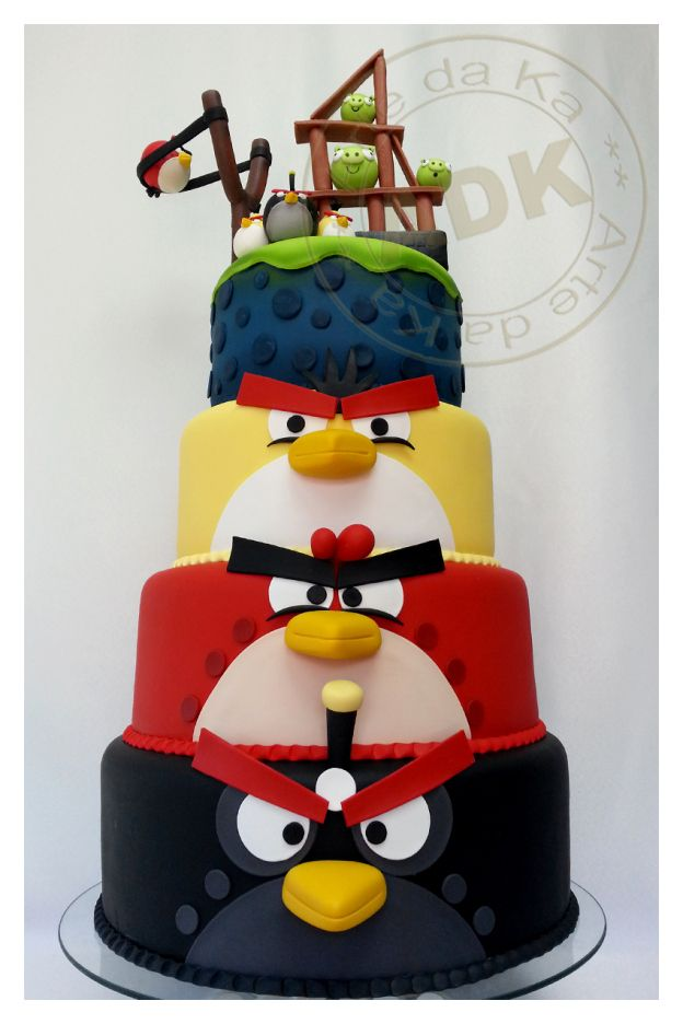 Angry Birds Cake - Wicked Awesome!