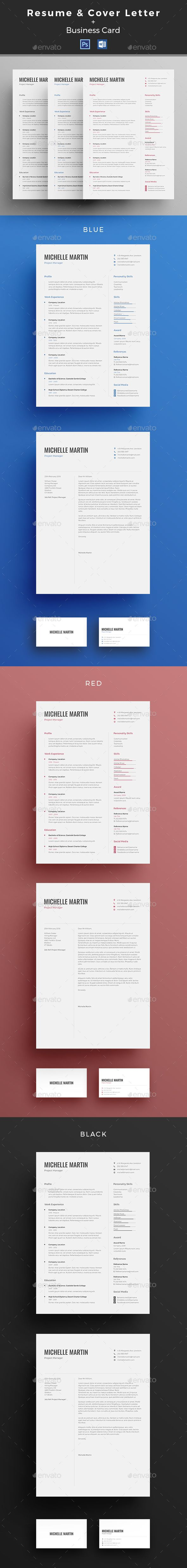 Resume CV Template PSD MS Word