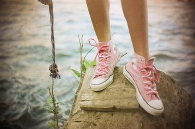 pink hightops