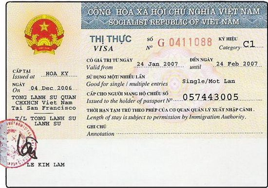 Documents needed to get Vietnam visa at Embassy/Consulate: 1- Your passport (with validity at least 6 months and has 2 blank pages) 2- 2 passport–size photos (front view; 4 x 6 cm). 3- Copy of approval letter that we sent to you. 4- Stamping fee, you pay directly in cash at the Immigration desk at Vietnam Embassy/Consulate (the fee is different from Embassy to Embassy).