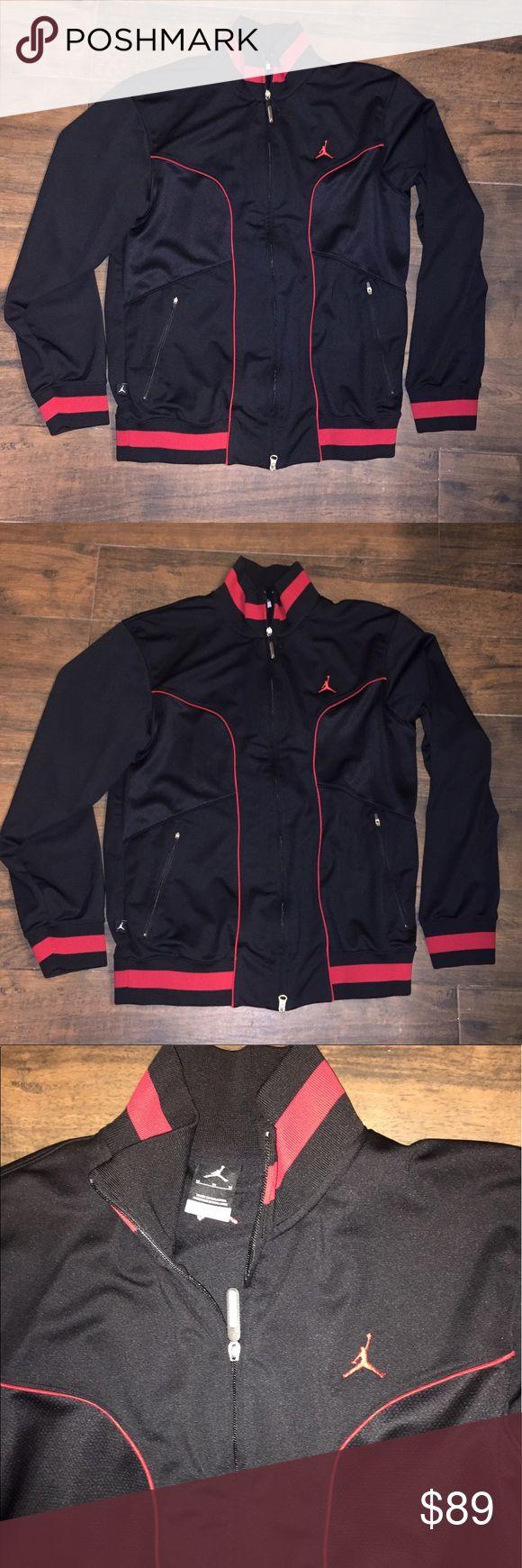 Jordan Nike dri fit jacket Jumpman M red black Worn once.  Jordan authentic jacket.  Size medium. Polyester material.  Dri fit.  Rare Jordan Jackets & Coats Performance Jackets